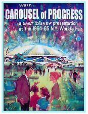 "VINTAGE DISNEY POSTER - CAROUSEL OF PROGRESS - WORLDS FAIR 8.5"" x 11"""