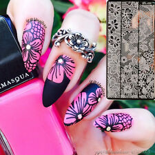 BORN PRETTY Lace Nail Art Stamping Plates Manicure Image Stencil Template Decor