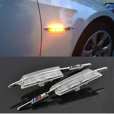 2pcs LED Clear Side Marker Lights Lamp FOR BMW E81 E88 E60 E61 E90 E91 E92 Amber