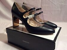 Nine West Academy Mary Jane Heels In Navy Leather Size 12m