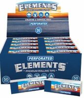 10 Packs Elements Perforated  Chemical Free Premium Rolling Tips 33 Per PK