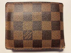 Louis Vuitton Men's Slender Wallet Brown Damier Ebene Canvas