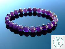 Amethyst Natural Gemstone Bracelet 7-8'' Elasticated Healing Stone Chakra Reiki