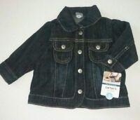 Carter's Mini Blues Baby Girl Denim Blue Jean Snap Jacket Size 6 Months NWT