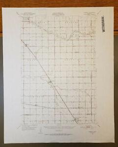 "Campbell, Minnesota Original Vintage 1951 USGS Topo Map 22"" x 18"""