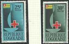 Timbres Santé Médecine Croix Rouge Togo 385/6 ** lot 20516