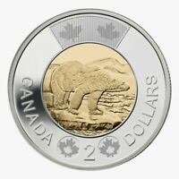 🇨🇦 Canada Toonie 2 Dollars $2 Coin Polar Bear, Bi-Metallic, 2015