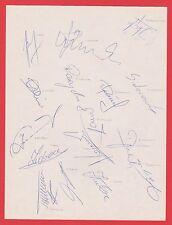 POLAND INTERNATIONAL TEAM 1990 RARE ORIGINAL HAND SIGNED SHEET X 16 SIGNATURES