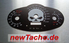 Harley V-Rod Muscle SKULL VRSCF Tachoscheibe Gauge black Tacho kmh cluster dial
