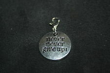 Charms Anhänger - Never Never Give Up