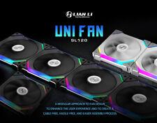 LIAN LI UNI FAN SL120 Cable Free, Black ,White, 3 PACKS With Remote control RGB