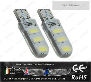 W5W T10 Wedge White 4500k LED SMD Car Front Side Lights Parking Bulbs Sidelights