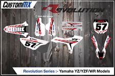 Yamaha YZ125 YZ250 & UFO PLÁSTICOS restyled Kit completo de gráficos semi personalizada