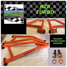 RZR XP TURBO HIGH-CLEARANCE HD CHROMOLY LOWER CONTROL ARMS W/BALL JOINTS, ORANGE