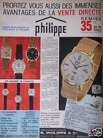 PUBLICITÉ 1963 FABRIQUE D'HORLOGERIE DE PRÉCISION PHILIPPE - ADVERTISING