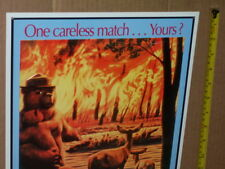 Smokey Bear - Only You Can Prevent Forest Fires - Sign >>>>>>& gt; Wow