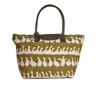 Green Shopper Work Shoulder Large Bag Tote Zip Zipper Duck Gifts Ducks Gift Bags