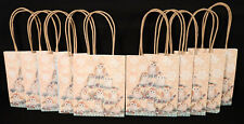 "Lot of 10 Punch Studio Holiday Owl Gift Bags 4.5"" x 5.5"" Glitter Snowflake New"