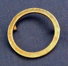 Vintage Ladys Circular Pin Designer Sterling Silver Textured Manufactured
