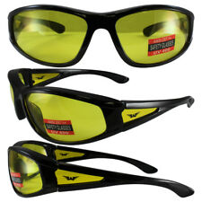Integrity 2 Black Frame Yellow Lens Safety Glasses