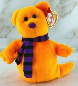 Ty Beanie Babies - SHIVERS THE ORANGE GHOST - MWNT 2004