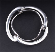 GEORG JENSEN Sterling Silver Infinity Bangle # 452. Design: Regitze Overgaard.
