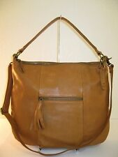 Lucky Brand Jordan Brown Leather Large Hobo Crossbody Bag $208