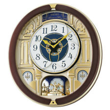 Seiko Wall Clock Melody in Motion, Rotating Pendulum, Plastic, Home Décor