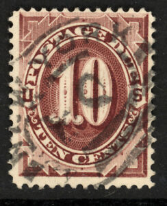 SCOTT J26 1891 10 CENT POSTAGE DUE ISSUE USED F-VF CAT $20!