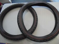 """TWO Used Raleigh Chopper Mk1 / Mk2 red line rear tyres 20"""" x 2.125"""""""