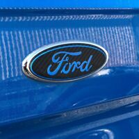 CUSTOM SIZE CARBON FORD STYLE BADGE DECALS COMPATIBLE WITH ALL FORD MODELS