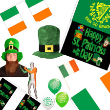 St Patricks Day Accessories - Balloons Bunting Souvenirs Leprechaun Hats Flags