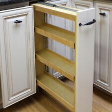 "Dowell 4D005 0630B Wood 6"" Base Filler Pullout Organizer w/Adjustable Shelves"