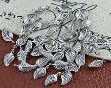 Tibet Silber Ketten Anhänger Metall Troddel Tassel Quaste 80mm Blatt BEST DEK56