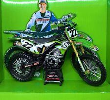 MODELLINO MOTOCROSS KAWASAKI KXF 450 CHAD REED SCALA 1:12 MODEL BIKE MOTO CROSS