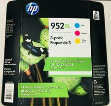 HP GENUINE 952XL CMY Inkjet Cartridges Retail Box Officejet Pro 7720 7730 8200