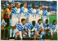 Olympique Marseille Fußball Champions League 1993 Winner Fan Big Card Edit. A120