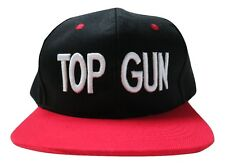 Top Gun Adjustable Snapback Flat Bill Hat Baseball Cap