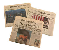 New York Times Newspapers 9/11 LOT/3 September 9/12/2001 9/11/2002 9/11/2006 NYT