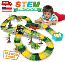 Flexible Track Kids Toy Set 192 Pcs Dinosaur Toys For Boys 4 5 6+ Kids Xmas Gift