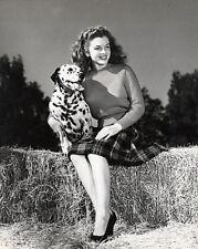 Young Marilyn Monroe with Dalmatian Dog 8x10 B&W Photo by Joseph Jangur