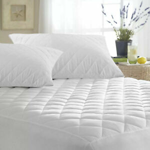EXTRA DEEP QUILTED MATRESS MATTRESS PROTECTOR FITTED BED SHEET COVER  WATERPROOF