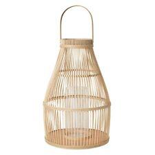 broste Copenhagen große Laterne Windlicht Birdy natur 52cm Bambus Glas  Dänemark