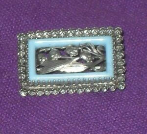STUNNING VICTORIAN 1900 ART NOUVEAU CHARLES HORNER SILVER & TURQUOISE BROOCH