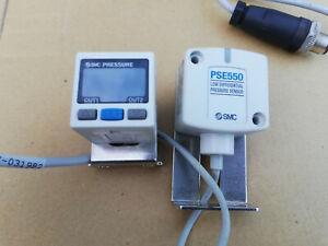 SMC PRESSURE PSE303+PSE550 pneumatic sensor differenzdruck druckschalter