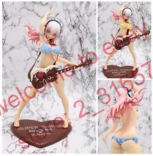 "Super sonico Valentine Chocolate Rock nude naked guitar girl PVC figure 10"" nobx"