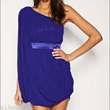 LIPSY purple one shoulder batwing satin belt mini party dress 8 BNWT RRP £110!!
