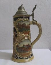 Vintage West Germany Lidded Beer Stein Marked bottom 2893 8