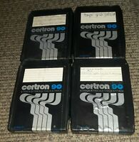 Lot of 4 Vtg 8 Track Tapes Centron 90 mins - Prerecorded but sold as blank