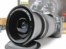 Wide Angle Macro Closeup Fisheye lens for Nikon 18-55 VR AFS as 50/35mm 52MM New